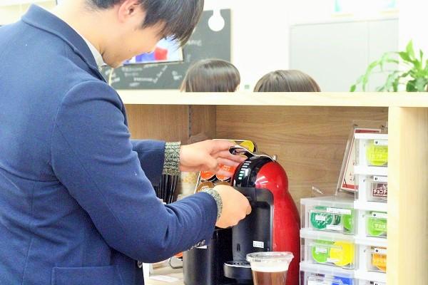 社内カフェコーナー設置!福利厚生の充実化!